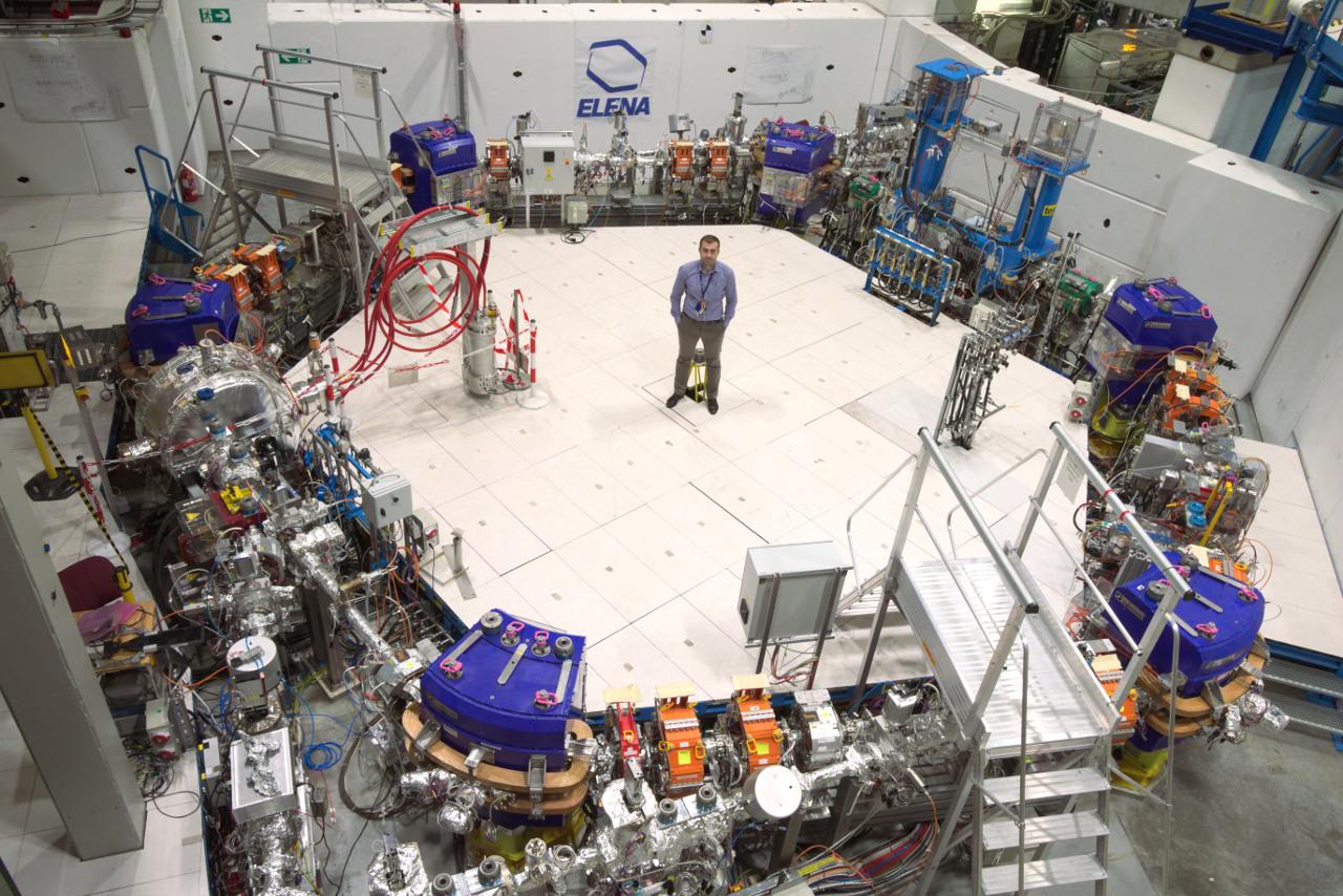Michał Dudek inside the ELENA ring at CERN
